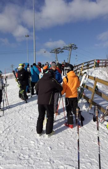 Тесты горных лыж 21.02.2019.
