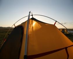 Палатки Alexika. Схема сборки палатки с внутренними дугами.