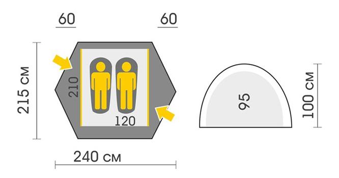 Схема Палатка Talberg Forest 2 Pro