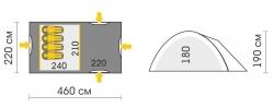 Схема Палатка Talberg Blander 4