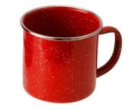 Кружка эмалированная с ободком GSI Cup Stainless Rim 350 ml red