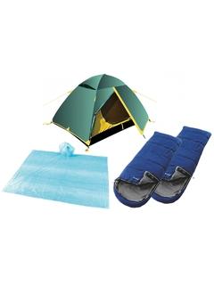 Комплект Tramp Scout 2 v2 + 2 Outwell Campion + 2 дождевика Easy Camp