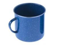 Кружка эмалированная с ободком GSI Cup Stainless Rim 350 ml blue