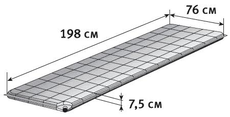 Самонадувающийся коврик Alexika Alpine Plus 80