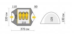Схема Палатка Talberg Malm 3