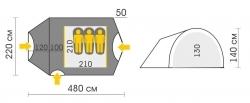 Схема Палатка Talberg Atol 3