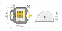 Схема Палатка Talberg Malm 2