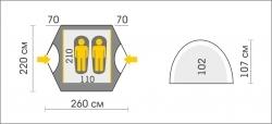 Схема Палатка Talberg Explorer 2