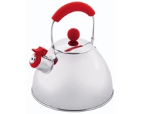 Чайник стальной Outwell Whistle Kettle, 2.3 ltr., red