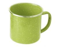 Кружка эмалированная с ободком GSI Cup Stainless Rim 350 ml green