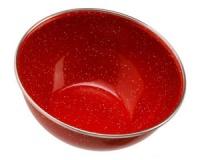 Миска глубокая с ободком эмалированная GSI Mixing Bowl Stainless Rim 5.75 red