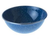 Миска глубокая с ободком эмалированная GSI Mixing Bowl Stainless Rim 5.75 blue
