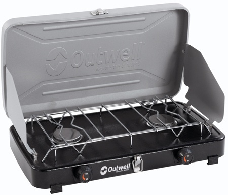 Схема Газовая плита Outwell Chef Cooker Deluxe 2-Burner Stove w/lid & windshield