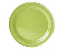 Тарелка эмалированная с ободком GSI Plate Stainless Rim 10.375 green