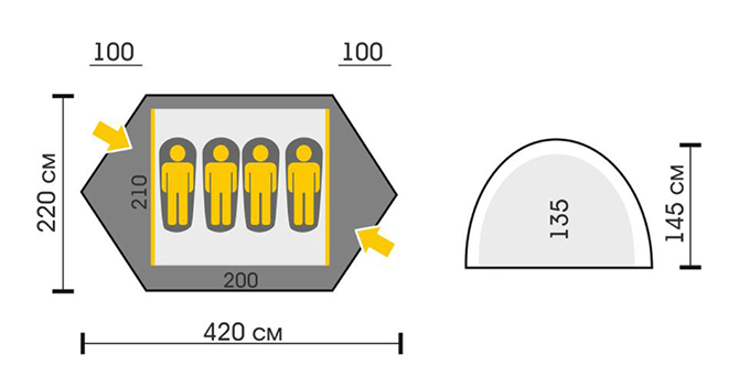 Схема Палатка Talberg Hunter 4 Pro