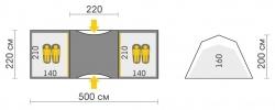 Схема Палатка Talberg Base 4