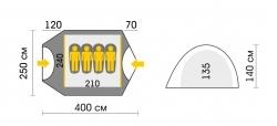 Схема Палатка Talberg Malm 4