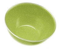Миска глубокая с ободком эмалированная GSI Mixing Bowl Stainless Rim 5.75 green
